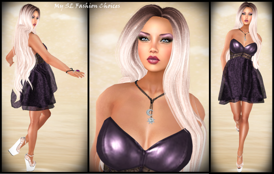 Freebies Sassy Anastasia Dress HR Heels, Olive Christmas Hair Chop Zuey Jewelry_003