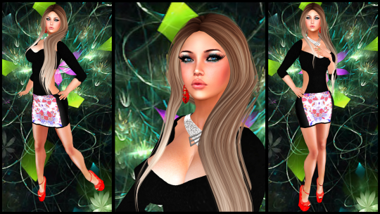 U Freebies, IAF Floral Dress, PP Nathalie Earrings, Tableau Vivant Hatshi Hair, HR Shoes_003