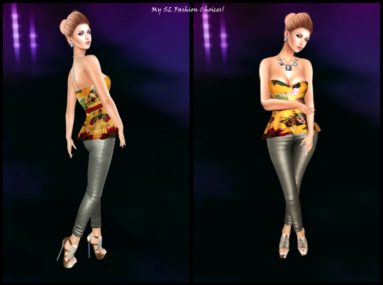 Freebies LG If You Go Away Pants, LG Complicated Girl Corset, Milana Nikola Bun Hair, Ecru Opium Heels Pure Poison Jewelry_001
